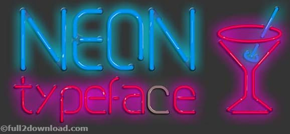 Download Neon Typeface Font Free Download - Front Pack Download
